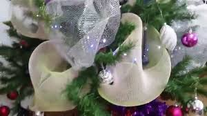 christmas tree decorated with ribbons deco mesh poly mesh youtube