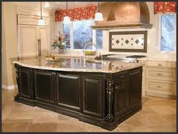 Double Island Kitchen by Fascinating Black Wooden Large Country Kitchen Island With Kitchen