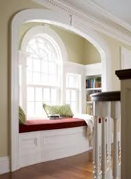 Window Seat Bookshelves Multifunction Bay Window With Red Window Seat Between Bookshelves