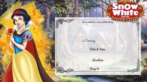 free printable snow white birthday invitation u2013 bagvania free