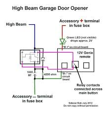 installing a garage door opener wired to motorcycle hi beam 7