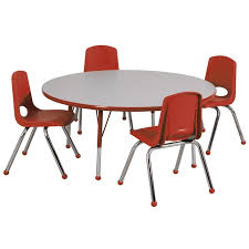 round table and chairs all round activity table chair package by ecr4kids options