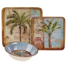 palm tree dinnerware sets wayfair
