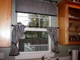 Kitchen Sink Curtain Ideas Black Kitchen Curtains Blackout Black White Curtains Night City