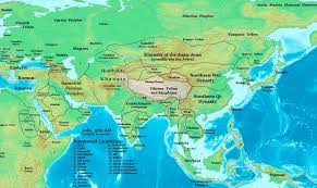 Central Asia Map by The Hephthalites Of Central Asia