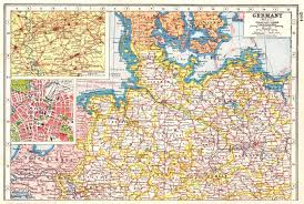map of leipzig northern germany inset westphalian ruhr coalfields plan of