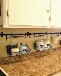 organization ideas for kitchen avoid clutter by the backsplash as storage diy home
