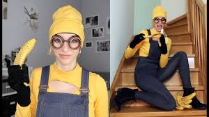 minion costume diy minion costume top and beanie 2017