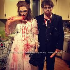 Zombie Bride Groom Halloween Costumes Creepy Bride Groom Zombie Couple Costume Newly Deads