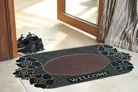 decorative floor mats home flooring entrance floor mats in navy blue with wood deck aso
