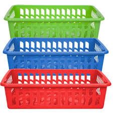 bulk rectangular slotted plastic baskets at dollartree
