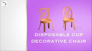diy disposable cup decorative chair children art u0026 craft
