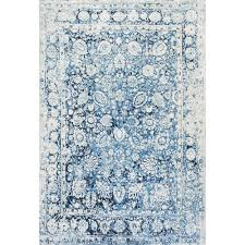 Retro Area Rug Nuloom Vintage Floral Boisvert Blue 5 Ft X 8 Ft Area Rug Glar05a