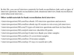 Bank Reconciliation Resume Sample by Top 10 Bank Reconciliation Clerk Interview Questions And Answers
