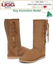 ugg boots australia made sheepskin lace up boots for ebay