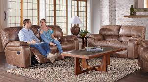 Cindy Crawford Home Alpen Ridge Tan 7 Pc Living Room With Reclining