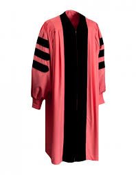 doctoral gown premium pink doctoral gown graduationsource