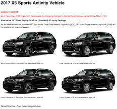 Bmw X5 Generations - 2017 bmw x5 and x6 standard and optional equipment changes
