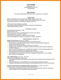financial analyst resume exles 2 7 data analyst resumes sles precis format