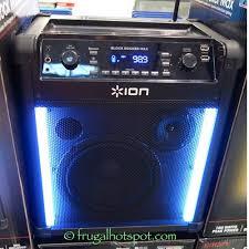 ion bluetooth speaker with lights ion job rocker plus rugged wireless jobsite sound system costco