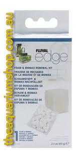 fluval edge replacement foam and biomax the aquarium shop australia