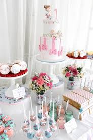 kara u0027s party ideas shabby chic first birthday party ideas