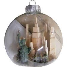 folk clear glass ornament tower statue