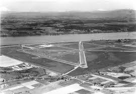 Portland International Airport Map by Portland Airport 1940 Vintage Portland