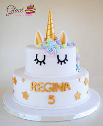 pastel de unicornio decorado con fondant pasteles infantiles