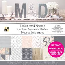 find the dcwv printed cardstock paper pad sophisticated neutrals