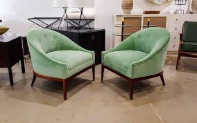 chair personable large luxe green velvet scoop slipper chair at