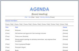 word agenda template sogol co