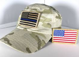 American Flag Camo Hat Tactical Thin Blue Line And Full Color American Patches With