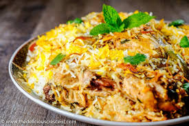 biryani indian cuisine easy hyderabadi chicken biryani the delicious crescent