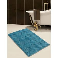 bathroom nifty blue plain bathroom rug sets using soft cotton