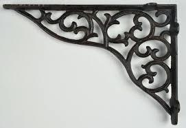 ornate brackets for shelves wall shelf bracket ornate pattern cast