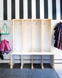 Mudroom Cabinets by Mudroom Lockers Diy Mudroom Lockers Cubbies Made With Plywood And