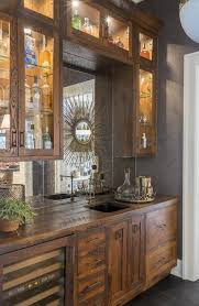 Wet Bar Sink And Cabinets Mirrored Wet Bar Backsplash Transitional Kitchen Highgate House