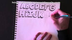 3d alphabet letters template drawing the alphabet in 3d with paolo morrone youtube drawing the alphabet in 3d with paolo morrone