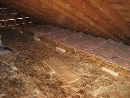 attic insulation and superdeck installation