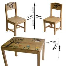 Toddler Table Chair Children Wooden Table And Chair Set Home Decorating Interior