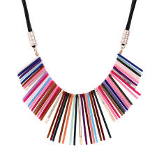collar bib necklace images Colorful acrylic choker necklace women 2016 chain collar bib jpg