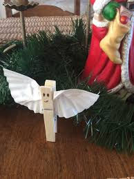 clothes pin angel quick christmas craft for kids wife with a