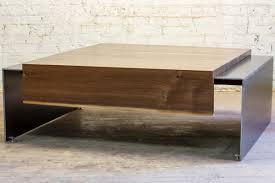 waterfall coffee table wood waterfall coffee table icon modern