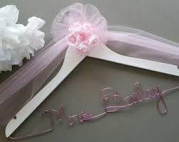 personalized wedding hangers custom bridal hanger etsy
