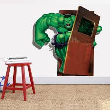 popular paper wall minecraft buy cheap paper wall minecraft lots latest 3d super hero marvel party decoration wall sticker the hulk decal home decor wall sticker