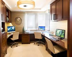 Home Office Double Desk Interior Design Beautiful Home Office Design For Two People With