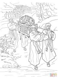 joshua and the fall of jericho coloring page free printable
