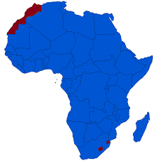 Actual Map Of The World by Monarchies In Africa Wikipedia
