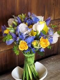 Wedding Flowers Blue Blue Yellow And White Wedding Flowers U003c3 Ashley U0026 Elliot 4 27